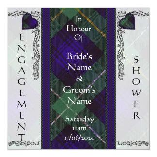 """Campbell del tartán del escocés de Argyll Invitación 5.25"""" X 5.25"""""""