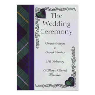 """Campbell del tartán del escocés de Argyll Invitación 5"""" X 7"""""""