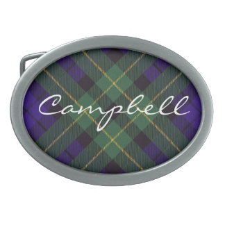 Campbell del tartán del escocés de Breadalbane Hebilla Cinturón Oval