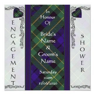 """Campbell del tartán del escocés de Breadalbane Invitación 5.25"""" X 5.25"""""""