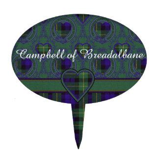 Campbell del tartán del escocés de la tela decoración para tarta