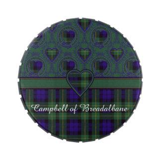 Campbell del tartán del escocés de la tela frascos de caramelos
