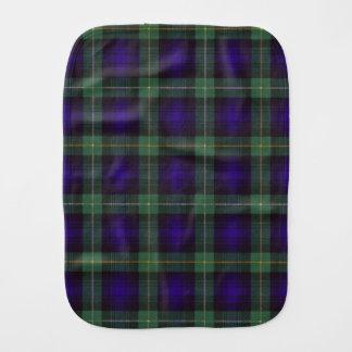 Campbell del tartán del escocés de la tela paños de bebé