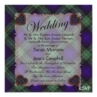 """Campbell del tartán escocés de Breadalbane - tela Invitación 5.25"""" X 5.25"""""""