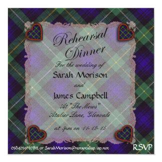 """Campbell del tartán escocés del clan de Argyll - Invitación 5.25"""" X 5.25"""""""
