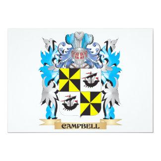 """Campbell-- Escudo de armas - escudo de la familia Invitación 5"""" X 7"""""""