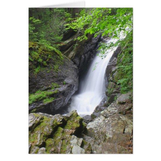 Campbell Falls gorge Berkshires Waterfall Card
