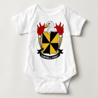 Campbell Family Coat of Arms Baby Bodysuit