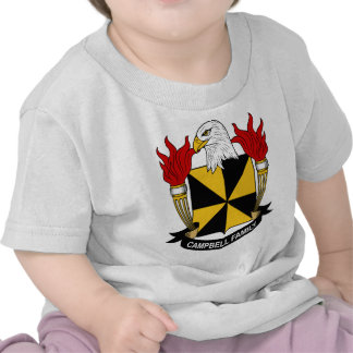 Campbell Family Coat of Arms Tee Shirt