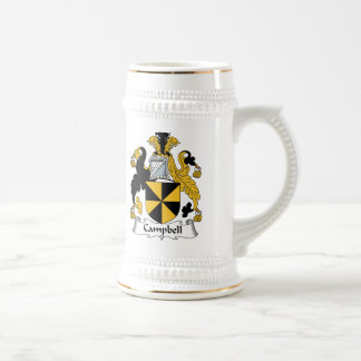 Campbell Family Crest Beer Stein
