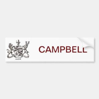 CAMPBELL FAMILY CREST CAR BUMPER STICKER