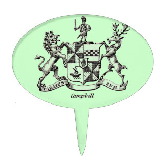 CAMPBELL FAMILY CREST CAKE PICK