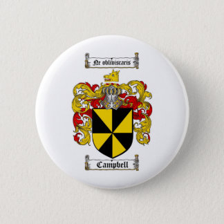 CAMPBELL FAMILY CREST -  CAMPBELL COAT OF ARMS BUTTON