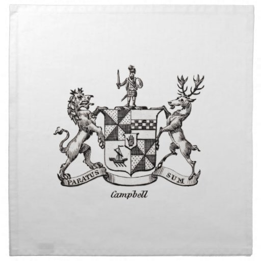 CAMPBELL FAMILY CREST CLOTH NAPKIN