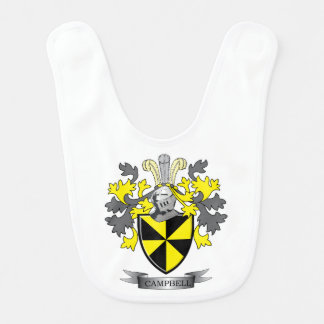 Campbell Family Crest Coat of Arms Baby Bib