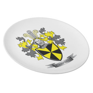Campbell Family Crest Coat of Arms Dinner Plate