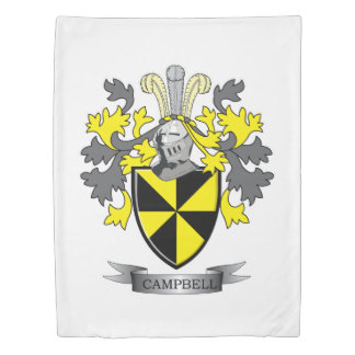 Campbell Family Crest Coat of Arms Duvet Cover