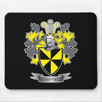 Campbell Family Crest Coat of Arms Mouse Pad