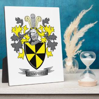 Campbell Family Crest Coat of Arms Plaque