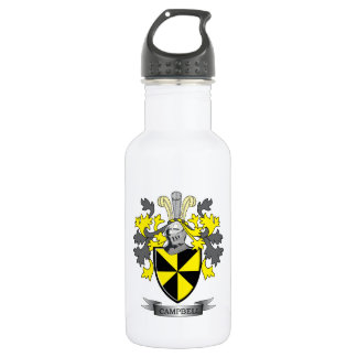 Campbell Family Crest Coat of Arms Stainless Steel Water Bottle