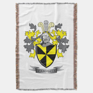 Campbell Family Crest Coat of Arms Throw