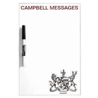 CAMPBELL FAMILY CREST Dry-Erase BOARDS