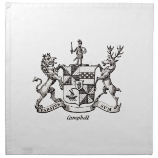CAMPBELL FAMILY CREST PRINTED NAPKINS