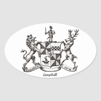 CAMPBELL FAMILY CREST OVAL STICKER