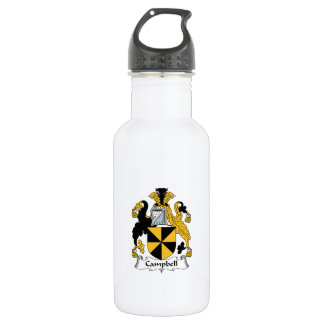 Campbell Family Crest 18oz Water Bottle