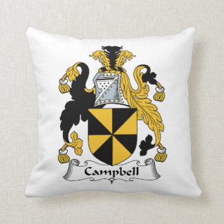 Campbell Family Crest Throw Pillow