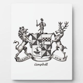 CAMPBELL FAMILY CREST PHOTO PLAQUE