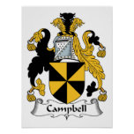 Campbell Family Crest Poster