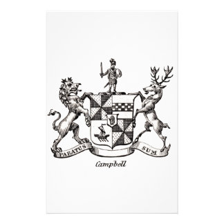 CAMPBELL FAMILY CREST STATIONERY DESIGN