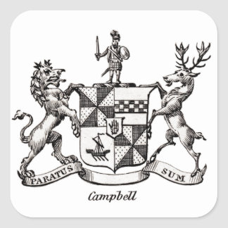 CAMPBELL FAMILY CREST SQUARE STICKER