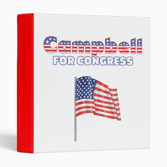 Campbell for Congress Patriotic American Flag Desi Binder