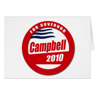 Campbell for Governor Card
