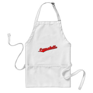 Campbell in Red Adult Apron
