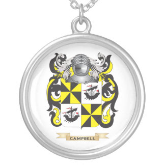 Campbell--(Ireland) Coat of Arms (Family Crest) Round Pendant Necklace