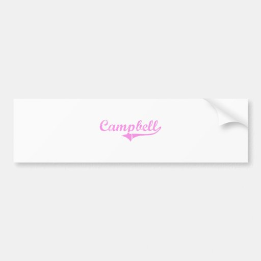 Campbell Last Name Classic Style Bumper Stickers