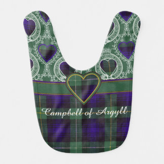 Campbell of Argyll clan Plaid Scottish tartan Baby Bib