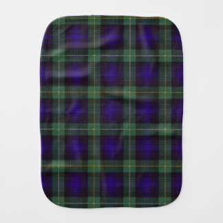 Campbell of Argyll clan Plaid Scottish tartan Baby Burp Cloth