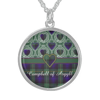 Campbell of Argyll clan Plaid Scottish tartan Sterling Silver Necklace