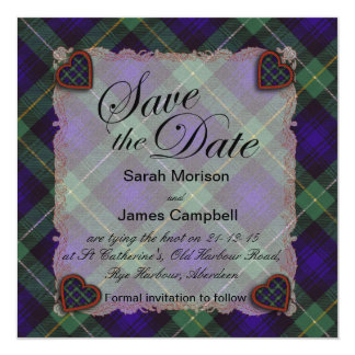 Campbell of Argyll Scottish clan tartan - Plaid Card