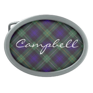 Campbell of Argyll Scottish Tartan Oval Belt Buckle
