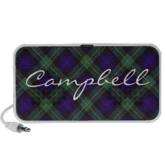 Campbell of Argyll Scottish Tartan Travel Speaker
