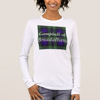 Campbell of Breadalbane Plaid Scottish tartan Long Sleeve T-Shirt