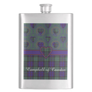 Campbell of Cawdor clan Plaid Scottish tartan Flask