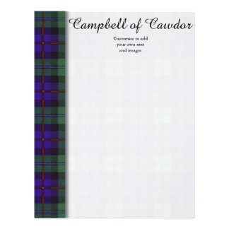 Campbell of Cawdor clan Plaid Scottish tartan Personalized Flyer