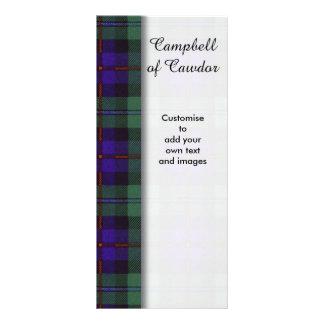 Campbell of Cawdor clan Plaid Scottish tartan Rack Card