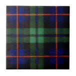 CAMPBELL OF CAWDOR FAMILY TARTAN SMALL SQUARE TILE